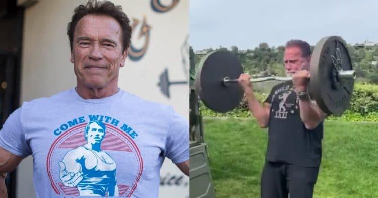 Arnold Schwarzenegger Curls