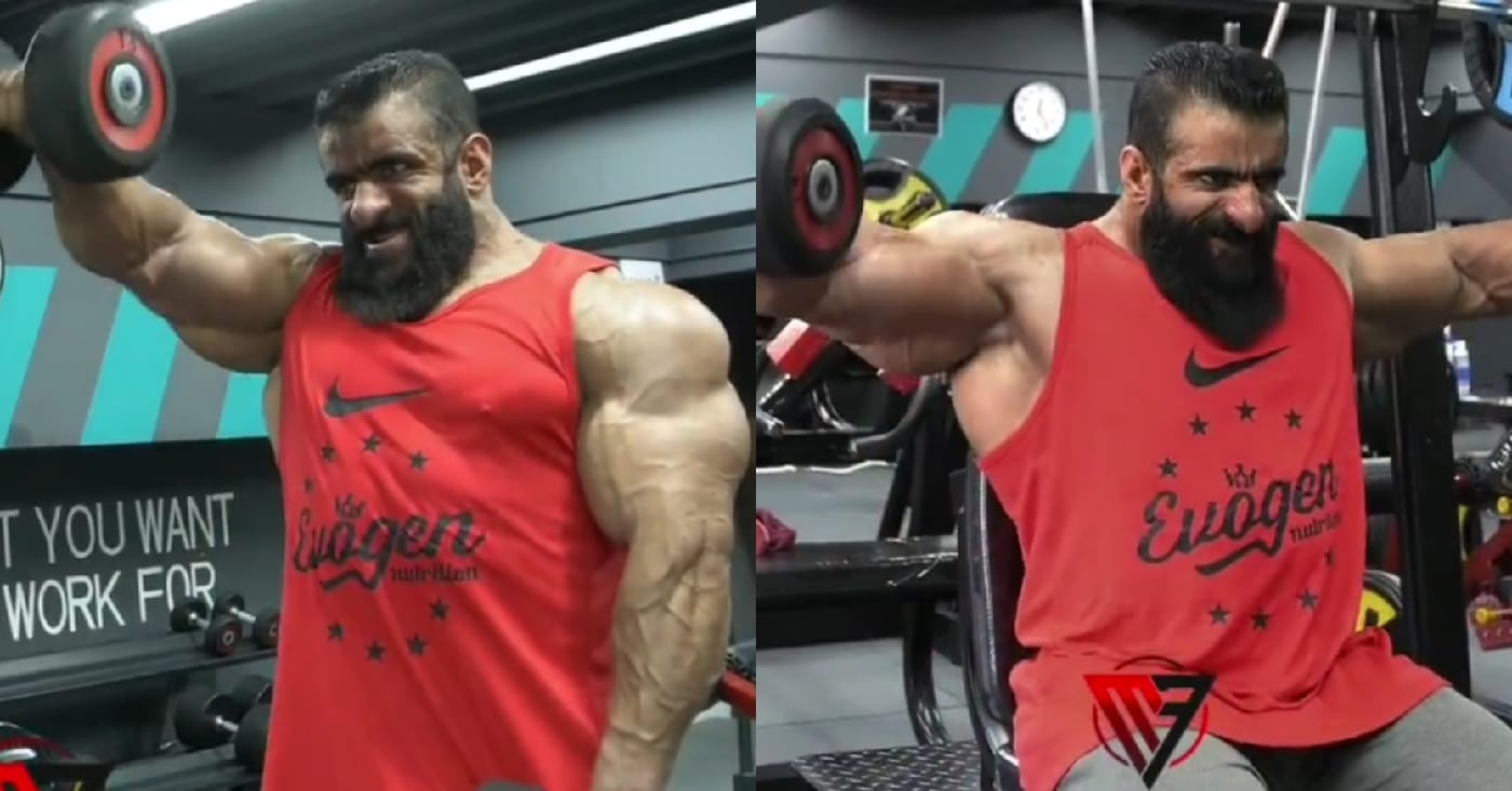 Hadi Choopan Demolishes Shoulder Workout 12 Weeks From