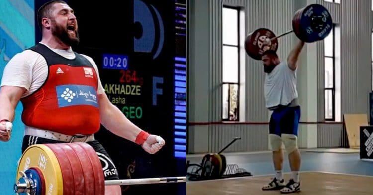 Lasha Talakhadze Heaviest Snatch Record
