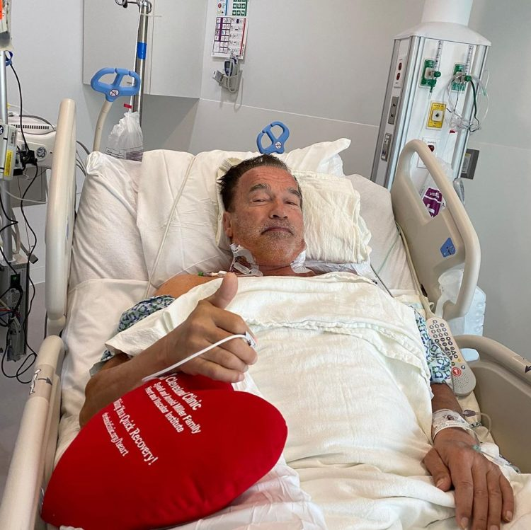 Arnold Schwarzenegger Gives Thumbs Up In Recovery Photo After Undergoing Heart Surgery