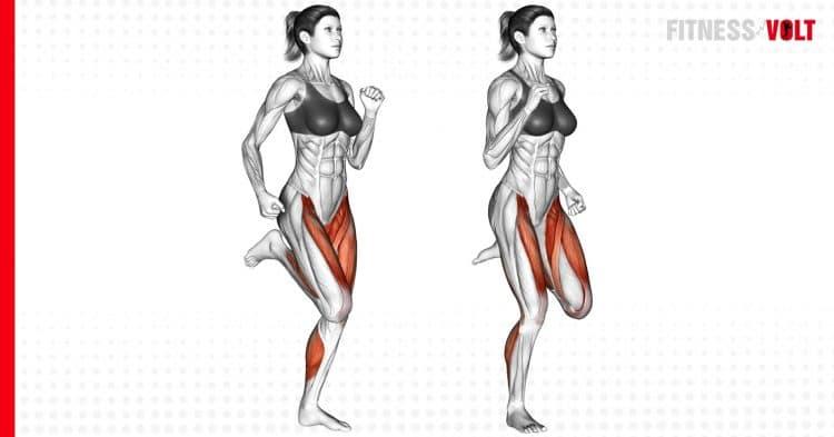 Butt Kicks Exercise