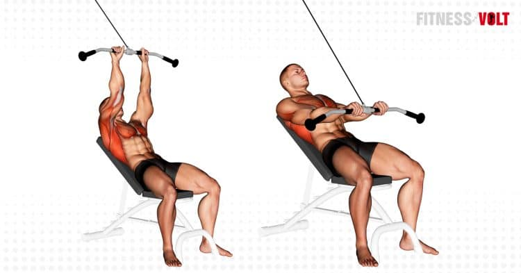 Cable Incline Pushdown Exercise
