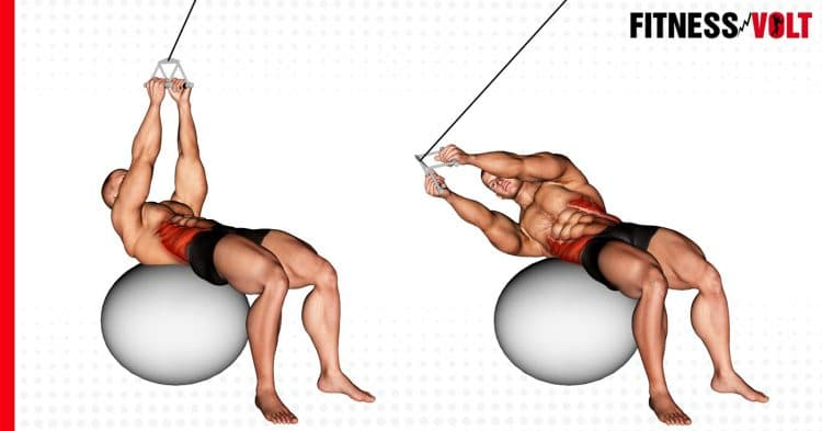 Cable Russian Twists on Stability Ball
