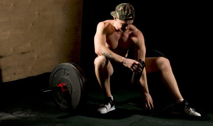 Exhausted Bodybuilder