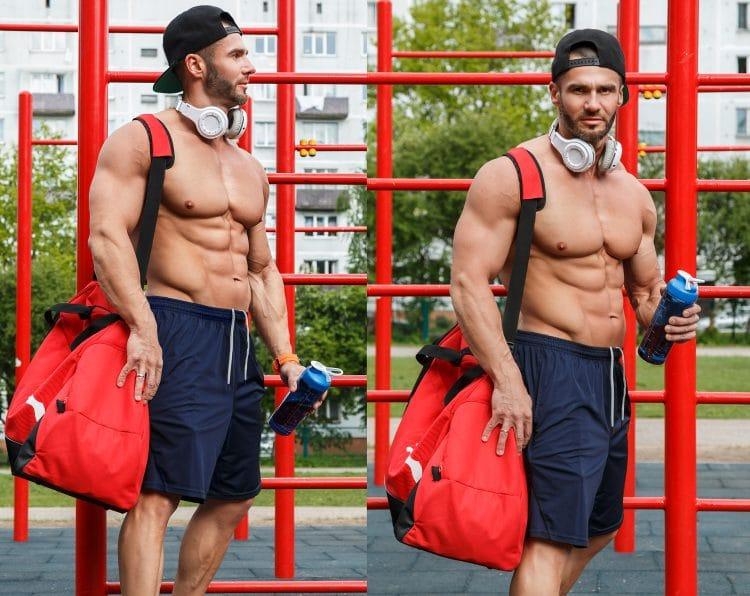 Going To Gym With Gym Bag