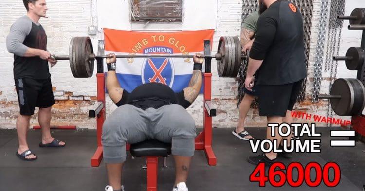 Julius Maddox 500lbs Bench