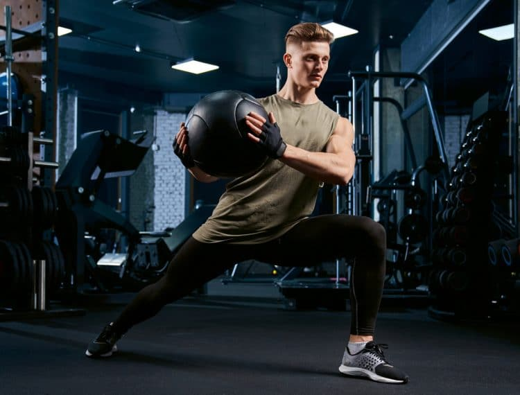 Lunges Using Ball