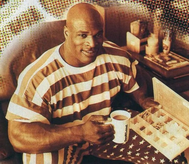 Ronnie Coleman Drinking Coffee