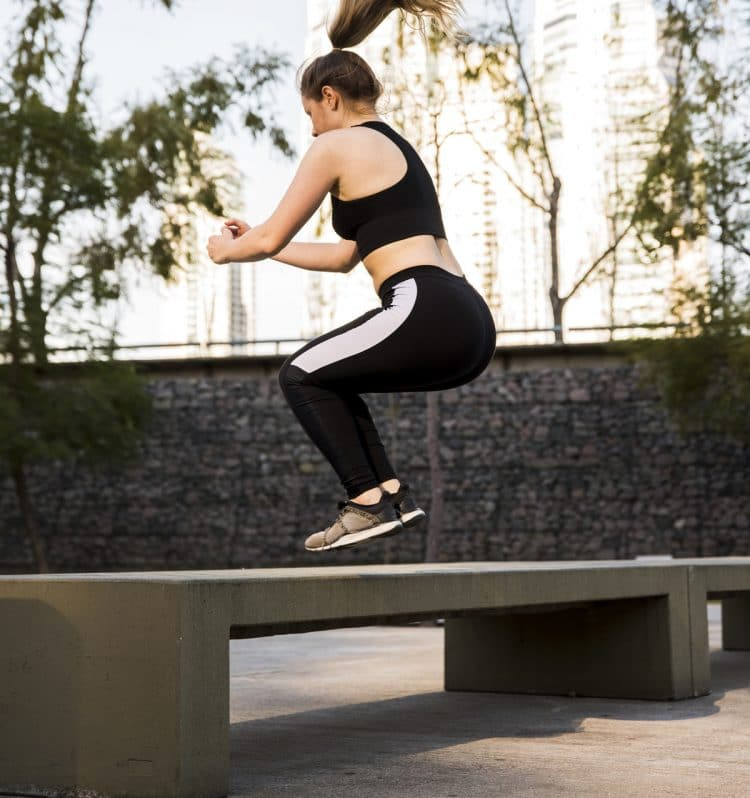 Side To Side Bench Jumps