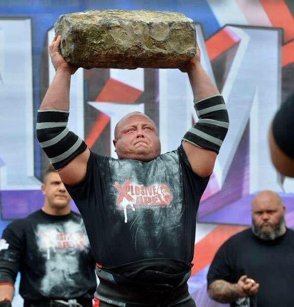Strongman Rock Carry
