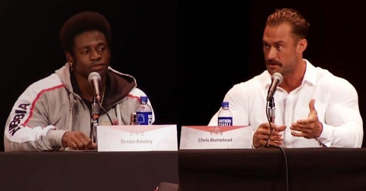 Chris Bumstead and Breon at Olympia Press Conference