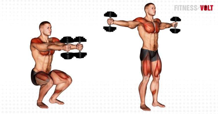 Dumbbell Iron Cross Exercise