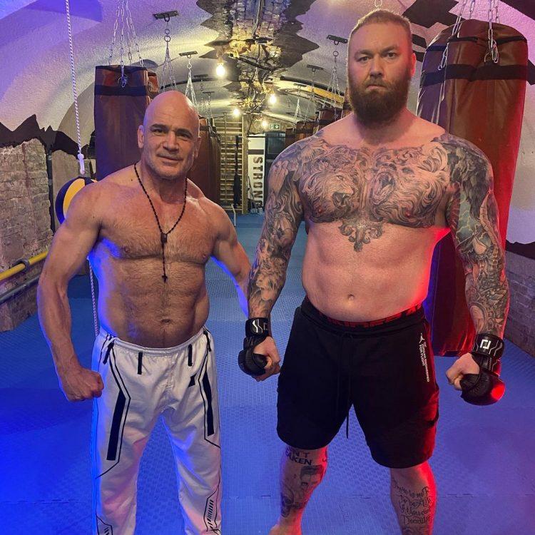 Hafthor Bjornsson And Bas Rutten