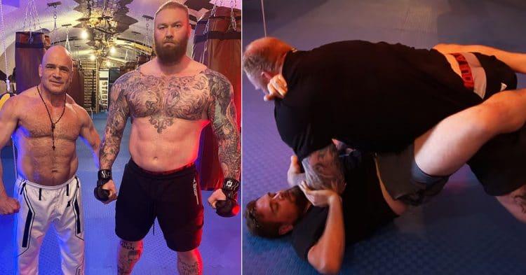 Hafthor Bjornsson vs. BJJ Black Belt Bas Rutten