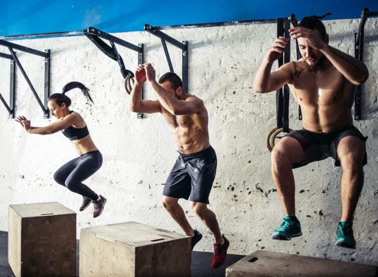 Box Jumps As A Group