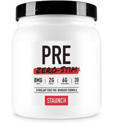 Staunch Pre Zero Stim Pre Workout