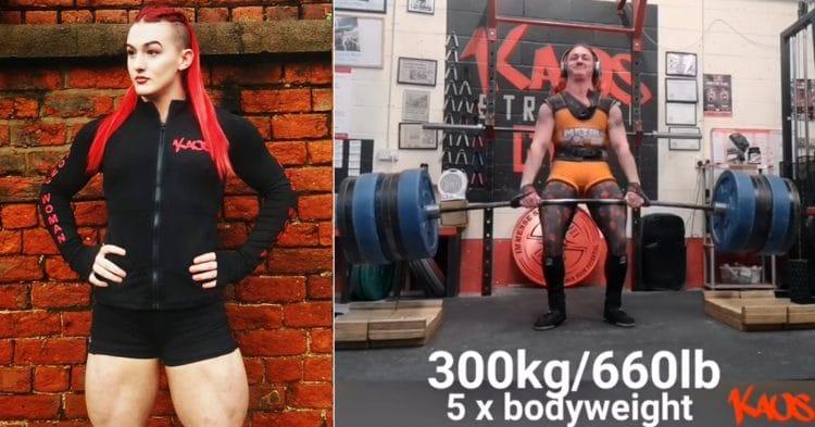 Rhianon Lovelace 300kg Deadlift