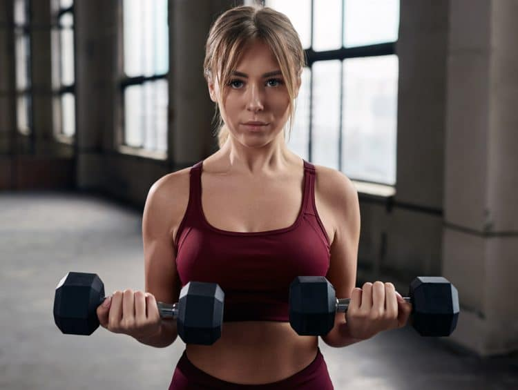 Dumbbell Curl and Press