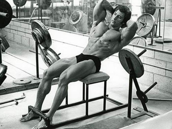 Frank Zane Training Abdominals