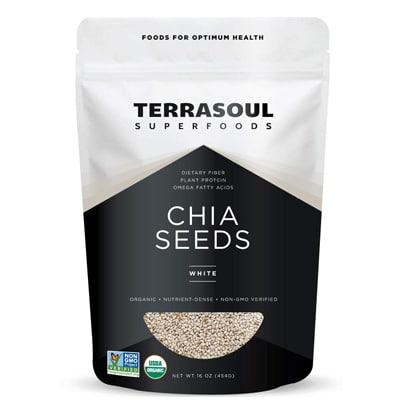 Terrasoul Superfoods Organic White Chia Seeds