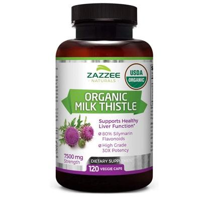 Zazzee Usda Organic Milk Thistle