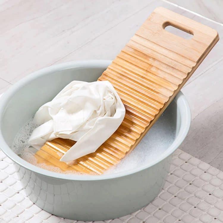 Bamboo Anti Skid Wave Faced Washboard