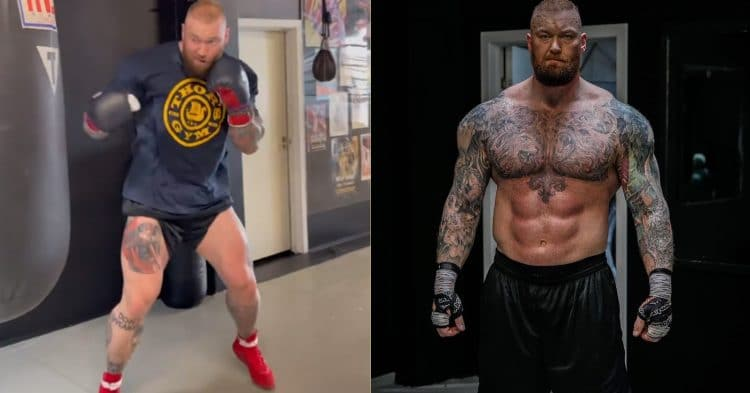 Hafthor Bjornsson Boxing Footage