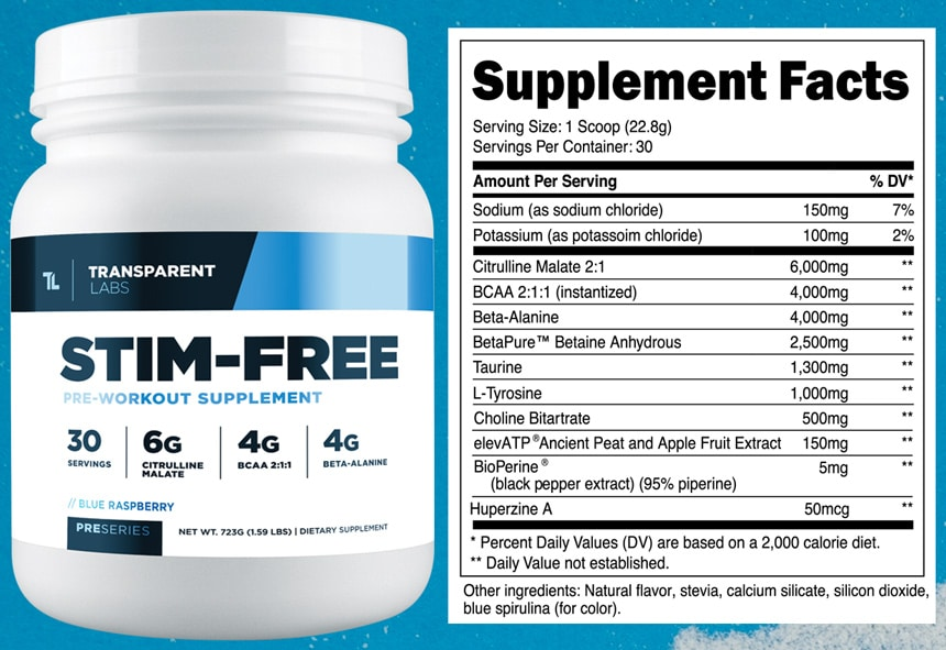 Stim-Free Pre Workout Ingredients