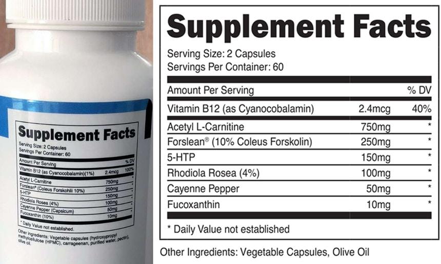 Transparent Labs Fat Burner Stim-Free Ingredients
