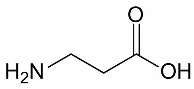 Structural Formula of Beta Alanine