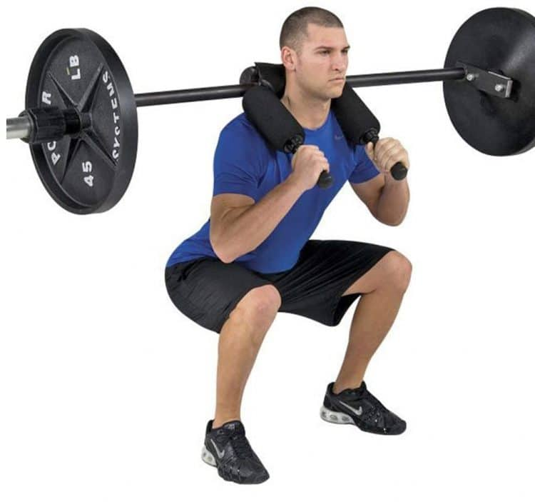 Squat Bar With Heavy Padded Shoulder