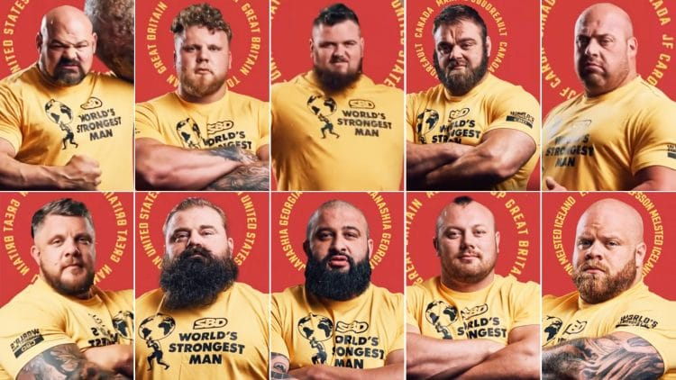 2021 World's Strongest Man Finalists