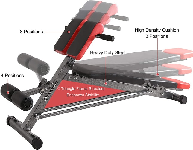 Finer Form Hyper Back Extension Adjustable Roman Chair