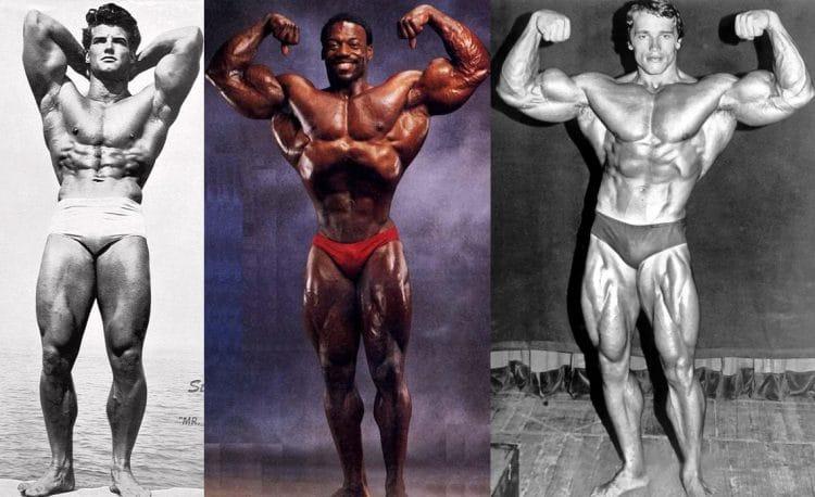 Steve Reeves, Brian Buchanan and Arnold Schwarzenegger