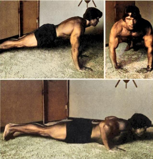Arnold Doing Push Ups