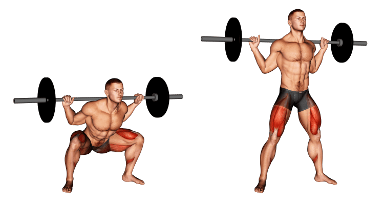 Barbell Squat Wide