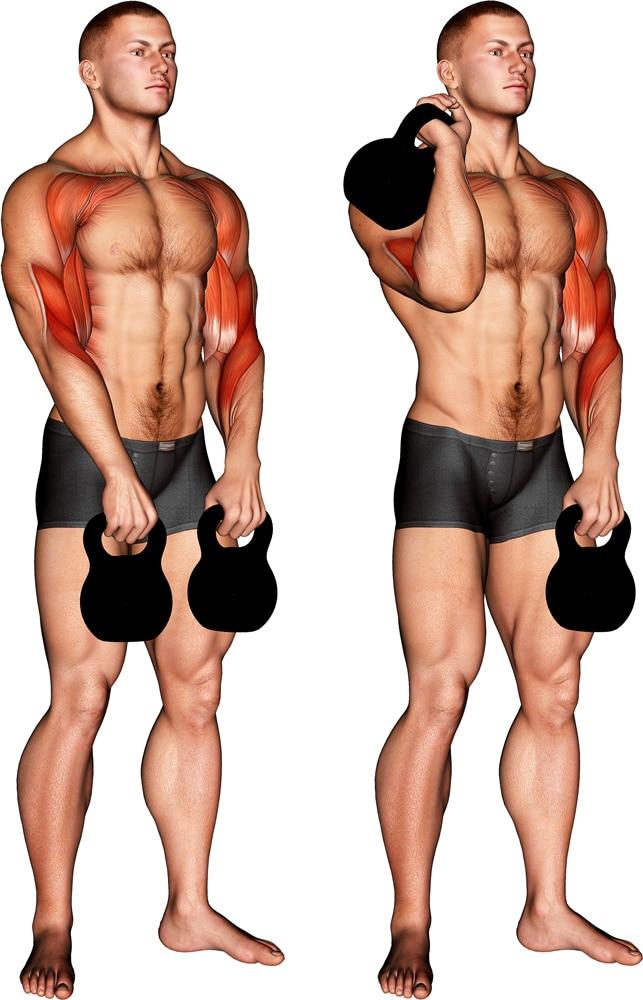 Kettlebell Alternating Hang Clean Forearms