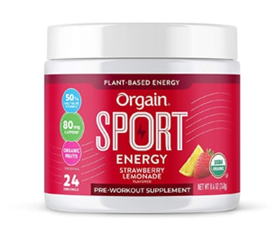 Orgain Sport Energy Pre Workout