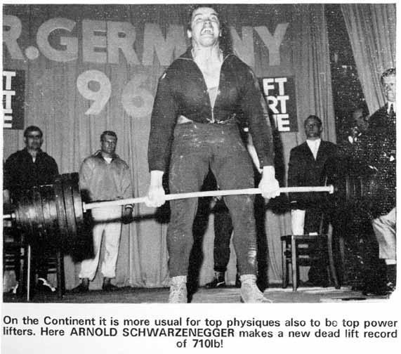 Arnold Deadlifting