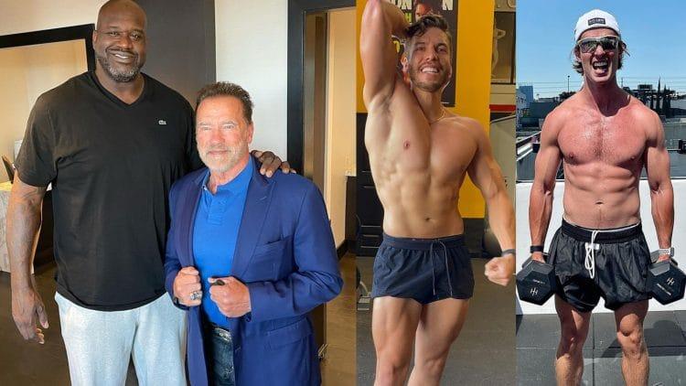 Arnold Schwarzenegger With Shaq
