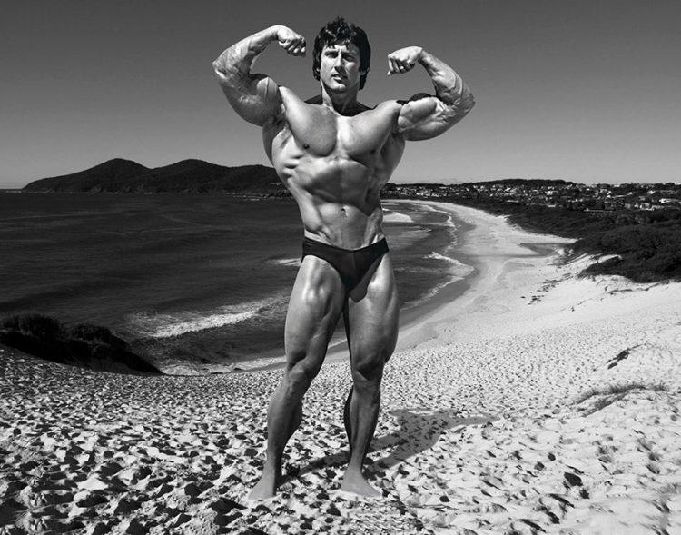 Frank Zane On Beach