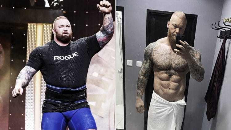 Hafthor Bjornsson: Before and after the transformation