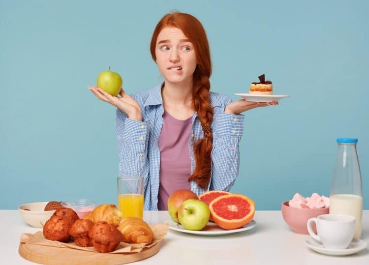 Choose Between Healthy And Unhealthy Food