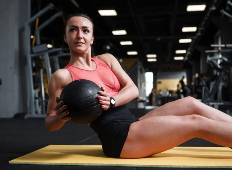 Russian Twist Abs Workout with Medicine Ball