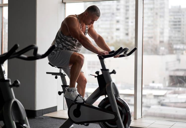 Stationary Bicycle In Gym