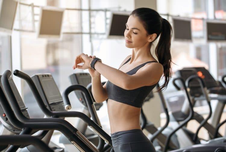 Training in Gym on Elliptical Trainer